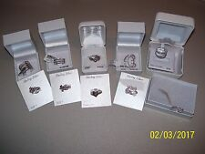 LOT OF 10 LADIES NEW BOXED STERLING SILVER RINGS SIZE 7, BUTTERFLY SIZE 8,  FS