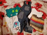 Baby Boys Clothes Bundle Size 3-6 Months Vests Dungarees etc