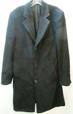Chaps Ralph Lauren 100% Cashmere Button-Front Overcoat Long Jacket -Men's, Black
