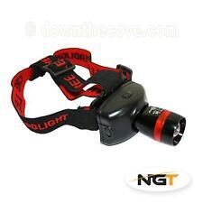 NGT Cree Q5 300 Lumens Headlamp for Fishing, Biking Head Torch - Free 1st Class!