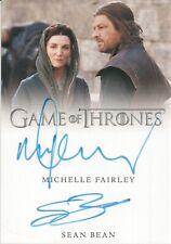 Game of Thrones Season 8, Michelle Fairley / Sean Bean Dual Autograph Card