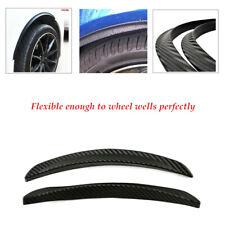 2PCS/Set PVC Rubber Car Wheel Eyebrow Arch Trim Lips Fender Flares Protector Kit