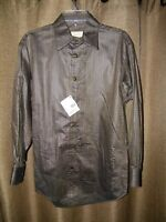 Stubbs Bronze Weave Long Sleeve Western Shirt Bronze Buttons Size M MSRP $179