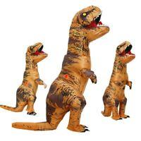 Disfraz de dinosaurio inflable para adultos para niños, disfraces de dinosaurio