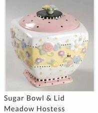 ~Mary Engelbreit Sugar � Bowl Set Pastel Flowers, Nwot~