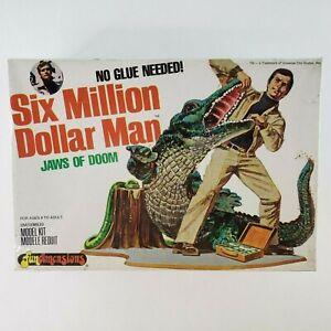 VTG Six Million Dollar Man JAWS OF DOOM Model Kit Universal Studios 1975 SEALED
