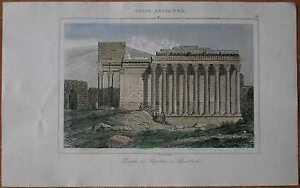 1848 print TEMPLE OF JUPITER, BAALBEK, LEBANON (#12)