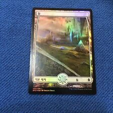 MTG Magic the Gathering Korean Battle for Zendikar Full Art Plains 253 Foil