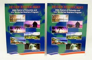 US Mint 2009 P D District of Columbia & US Territories Quarters Program Full Set