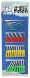 Tool Shack Wall Plugs And Screws Raw Home Repair Assorted Fixing Kit 48pcs