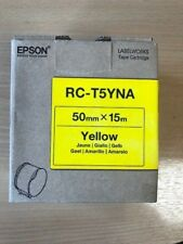 Epson RC-T5YNA (50mm x 15m) Olefin Plastic Label Tape (Yellow) - C53S634003