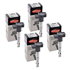 Set of 4 Delphi Ignition Coil GN10322 For Audi Volkswagen Seat A4 04-14