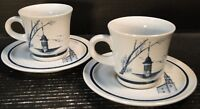 Noritake Colonial Times Tea Cup Saucer Sets 8340 2 Excellent