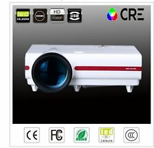 CRE X1501VX LED 4000 Lumens Portable USB Home Theater Projector