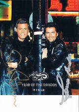"Modern Talking genuine autograph signed 4""x6"" postcard photo Dieter Bohlen"