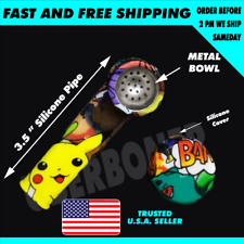 """New 2 X 3.5"""" Heroes🆕💥 Tobacco Smoking Hand Pipe Glass Bowl Screen🥴�🔥🥴�"""