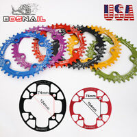 32-42t 104bcd Aluminum Narrow Wide MTB Bike Chainwheel Crankset Chainring Guard