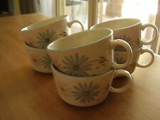 Franciscan Maytime Lot of Six Cups and Five Saucers FREE SHIPPING.