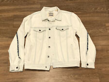 RARE Levi's Made & Crafted Type 3 Trucker Jacket Sz XL Bleached Denim White $228