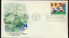 Fleetwood Cachet First Day Cover unaddressed 1974 PeterMax Expo Stamp LOT 1228