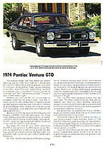 1974 Pontiac GTO 350 Article - Must See !!