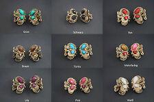 3D Butterfly Hair clip hair clip Rhinestone Beads Bronze Ntique gold 2 Pcs