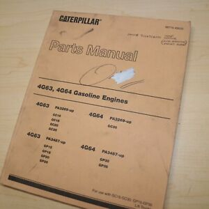 CAT 4G63 4G64 GP GC 15 20 25 30 Forklift Engine Parts Manual gas book catalog 63