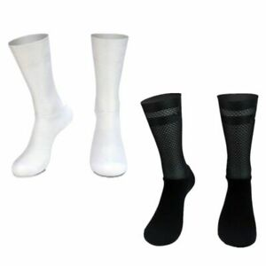 Aero Socks Anti Slip Silicone Cycling Socks Men Bicycle Sport Running Bike Socks