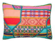 Anthropologie Icelandic King Shams 2 Colorful Bright Happy Unexpected Graphics