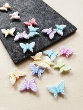 20 Transparent Acryl Schmetterling Perlen Schmuckherstellung Gemischt 14x18x7mm