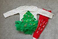 Baby Girls Christmas Tree Outfit With Tutu 6-9 Months