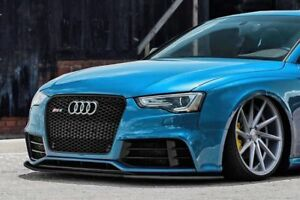 RS5 8T Front Bumper Lip Cup Skirt Lower spoiler Chin Valance Splitter Extension