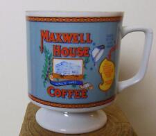 "Vintage Maxwell House Coffee Mug Bone China Made in Japan Pedestal Style 3.5"""