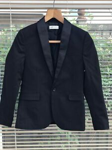 🌈BNWOT H&M Boys Tuxedo Black Jacket- Age 11-12 Years ,Christmas, Wedding, Party