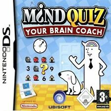 MIND QUIZ YOUR BRAIN COACH NINTENDO DS GAME