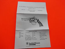 1978 SMITH AND WESSON K-38 COMBAT MASTERPIECE REVOLVER OWNER'S MANUAL, No. 67