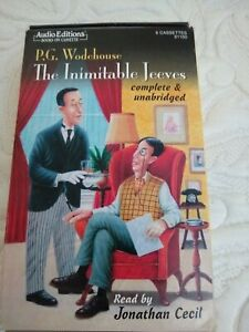 The Inimitable Jeeves Audiobook on 6 audiocassettes