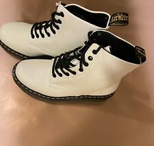 Dr Martens DOC Shop L White Glitter Boots Size UK 5