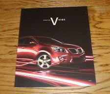 Original 2009 Pontiac Vibe Deluxe Sales Brochure 09 1.8L 2.4L AWD GT