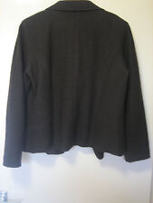 A LOVELY WOMENS HUCKE BROWN JACKET  POP BUTTONS  SIZE 16