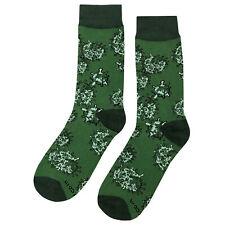 NWT Biology Dress Socks Novelty Men 8-12 Green Fun Sockfly