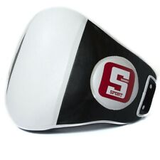 Sandee Sport Synthetic Leather Belly Pad Black White Striking Thai Boxing Kick