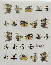 Accessoire ongles : nail art- Stickers Halloween :citrouille, sorcière , monstre