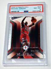 MICHAEL JORDAN MJ 2004-05 UPPER DECK ULTIMATE COLLECTION #14 PSA 8 NM-MT #/750