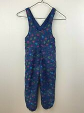 Hanna Andersson Girls 110 5 6 Navy Blue Floral Snow Pants Bibs READ