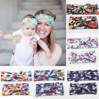 2PCS Womens & Kids Girls Baby Headband Bow Flower Hair Band Accessories Headwear