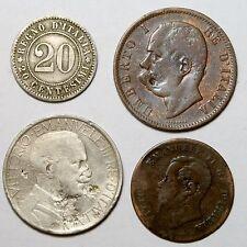NC0145 Italia reino lote 4 monedas - Italy 4 old coins lot