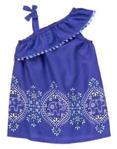 NWT Gymboree Girls Ruffle Elephant Dress  Safari Smiles 12 18 24M 3T 4T 5T