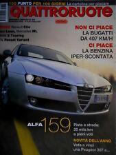 Quattroruote 601 2005 Ferrari GG50. La Bugatti da 407 km/h. Prova Alfa 159 Q.66]