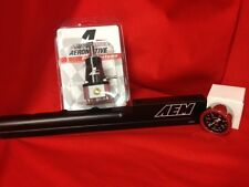 Honda B16A AEM Fuel Rail 25-103 BLACK  and Aeromotive Regulator 13129 + Gauge